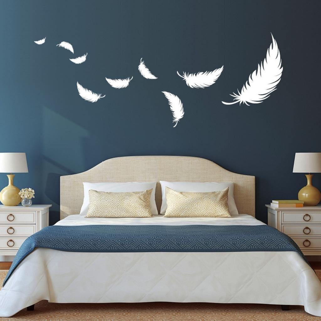 Unglaublich Wandtattoo Für Schlafzimmer Sammlung Von Modernes Federn